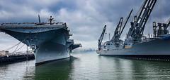 Bay Harbour Alameda / California (Udo S) Tags: ship water sky sanfrancisco usshornet alameda california usa aircraft carrier flugzeugträger harbour hafen