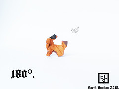 180° - Barth Dunkan. (Magic Fingaz) Tags: anjing barthdunkan chien chó dog hond hund köpek origami paperfolding perro pies пас пес собака หมา 개 犬 狗