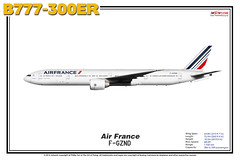 Boeing B777-300ER - Air France (The Art of Flying) Tags: aircraft airliner airplane boeing b777300er b773er b777 tripleseven aviation aviationenthusiast artprint theartofflying planes widebody illustration afr airfrance