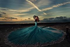 Parachute dress at Southerndown (modulationmike) Tags: parachute dress amazingsunset colour coastal