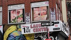 Totoros (edenpictures) Tags: firstavenue eastvillage newyorkcity nyc manhattan streetart graffiti firstavenuelaundrycenter