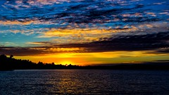 Dusk's Glow. (Bob's Digital Eye) Tags: bobsdigitaleye canon clouds cloudscape dusk efs1855mmf3556isii laquintaessenza lake lakesunsets lakescape october2018 silhouette skies sky skyline sunset sunsetoverwater t3i water flickr flicker