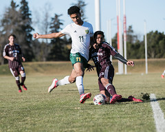 "2018_10_20GoldenBearsSoccer (5) (Don Voaklander) Tags: ""university alberta"" ""don voaklander"" voaklander edmonton alberta canada college university varsity sport sports men man men's male males academic canadian ""canada west"" ""canadian interuniversity sport"" ""u sports"" cis cw ""golden bears"" west universities athletic association"" athlete athletes soccer"