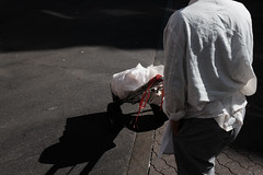 white sack (spanaut) Tags: sack street boston massachusetts unitedstates us chinatown streetphotography bag white
