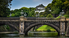 Imperial Palace Guardhouse and Seimon Ishibashi bridge - Tokyo Japan (mbell1975) Tags: chiyoda tokyo japan jp imperial palace guardhouse seimon ishibashi bridge asia water moat canal schloss schlössern residenz palast palats palacio palazzo château slott bro brücke puente pont ponte brug bouwwerk most brig köprü bur broen