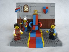 Problem of succession (fdsm0376) Tags: brickpirate bpchallenge kingdom castle king crown lego moc fantasy problem succession