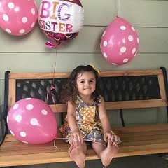 """Emilia wants Y'all to know she is going to be a Big Sister this spring. """"Momma has a baby in her tummmmmy"""" as she likes to say. #emiliasdad #emiliaelizabeth #dadlife #parsonspartyof4 (victorytattoochico) Tags: tattoo tattoos chico chicoca victorytattoo"""