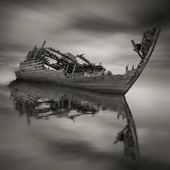 Defiant (paulantony2) Tags: sea boat ship shipwreck wreck seascape monochrome blackandwhite longexposure