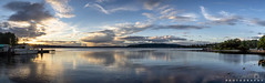 Sunset Panorama Sept 2018 (BobbyFerkovich) Tags: bristolsunsetrentonwashingtonlakewashington water clouds boeing sonya7riii sky