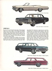Pages from a 1965 Chevrolet full line brochure (Hugo-90) Tags: 1965 chevrolet car auto automobile ads advertising brochure impala