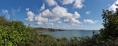 Stackpole                180913 302-307 (vintage 1953 & wackymoomin) Tags: stackpole nt nationaltrust pembrokeshire wales uk pano panorama sea coast sky clouds olympus em10mkii silkypix photomerge