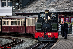 Lyn about to depart Porthmadog  (1 of 1) (steamnut777) Tags: steam wales porthmadog canon narrowgauge