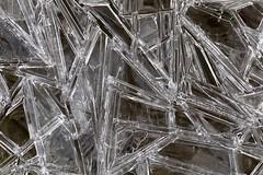 Cool Ice Crystals (Edmonton Ken) Tags: ice structure texture water hard cold frost alpine mountain trek h2o liquid state crystal kananaskis travel hike stream grass