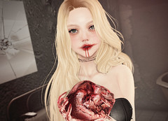 [MUDSKIN] Bloody Mari (Night) (Gabriella Marshdevil ~ Trying to catch up!) Tags: sl secondlife cute sexy halloween horror kawaii mudskin lelutka bento sorumin monso arcade gacha