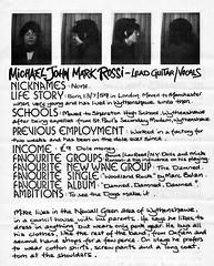 Michael John Mark Rossi - lead guitar/vocals (stillunusual) Tags: manchesterrains robgretton slaughterandthedogs slaughterthedogs fanzine musicfanzine punkfanzine punkzine punk punkrock newwave 1970s 1977