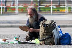 Artist (Nino La Corte) Tags: male outdoor gentleman daytime artist art people street photography colors berlin
