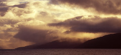 Loch Linnhe at Sunset (Jonathan Woods Photography) Tags: mamiya 645 super medium format colour slide fuji velvia 100 rvp100 landscape scotland loch linnhe sunset water mountains clouds golden hour