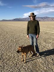 Morning dogwalk (simonov) Tags: blackrockdesert desert playa drylake man simonov bella dog hund chien 狗 σκύλοσ madra cane 犬 perro 개 سگ собака الكلب germansheprador northern nevada