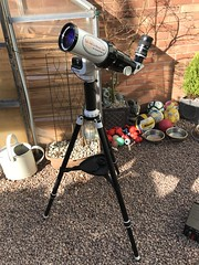 Solar observing (Sarah and Simon Fisher) Tags: solar solarobserving skywatcher solarquest goto trackingmount lunt 60mm b1200 astrophotography astronomy sun prominence sunspots solartransit kit astronomykit astronomygear bromsgrove worcestershire uk ukastroshow