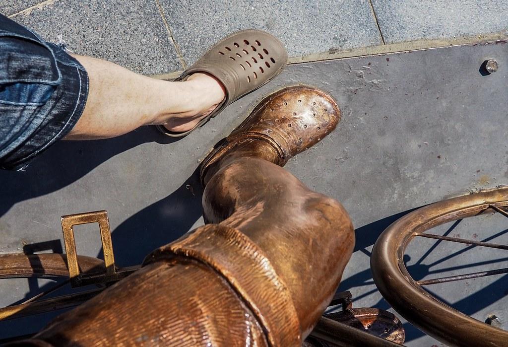 d15ef198980b Brown Crocs. (CWhatPhotos) Tags  cwhatphotos crocs browncrocs marmaris  turkey statue olympus digital