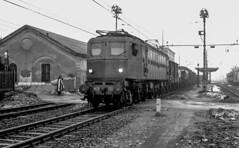 FS E 428.203 Stradella Gennaio 1974. Foto Roberto Trionfini (stefano.trionfini) Tags: train treni bahn zug fs e428 stradella lombardia italia italy