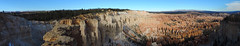 Bryce Canyon - Overview Panorama (Explored, 24 sept 2018, #356) (Drriss & Marrionn) Tags: travel utah usa landscape landscapes mountains desert rock rockformation ridge cliff cliffs mountainside canyon brycecanyon red sand mountain snow nature trees forest mountainrange rocks brycecanyonnationalpark pano panorama sky