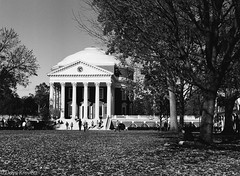 The Rotunda at UVa (davekrovetz) Tags: uva virginia charlottesville rotunda jefferson campus grounds university history mamiya kodak monochrome architecture film analog