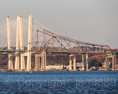 Detached Eastern Superstructure of original Tappan Zee Bridge, Tarrytown, New York (jag9889) Tags: 1955 2018 20181108 barge bridge cablestayed cantilever construction dismantling governormalcolmwilsontappanzeebridge hudsonriver k004 k893 mariomcuomobridge ny newnybridge newyork newyorkthruway orangetown original outdoor river rocklandcounty section southnyack span structure tappanzee tappanzeebridge tappanzeebridgereplacement tarrytown thenewnybridge twinspan usa unitedstates unitedstatesofamerica water waterway westchestercounty jag9889