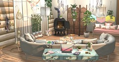 Raw Snapshot - Messing around with my linden home (Jessa ♥) Tags: dust bunny sl nomad soy peaches commoner fancy decor linden home interior applefall apple fall insurrektion granola mossmink kalopsia llorisen pixel mode brocante vespertine plaaka