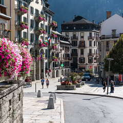 Chamonix Mont-Blanc (©Andrey) Tags: french alps chamonix montblanc town street day autumn warm france a7rii sel55f18z sonnartfe1855