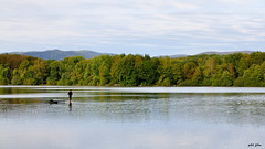 La solitude du pêcheur (petit_filou77) Tags: malsaucy lac lake fisherman pêcheur landscape paysage ciel sky nature water eau