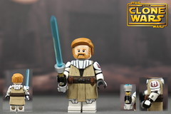 Custom LEGO Star Wars The Clone Wars: S1 Obi-Wan Kenobi (Will HR) Tags: lego star wars the clone obi wan custom
