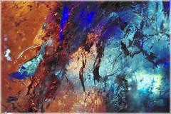Crissement fossile porté à la lumière ([JBR]) Tags: abstrait abstract abstracto couleur colours colores colors couleurs blau blue orange naranjado patterns motifs lumiere light luz