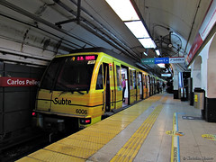 (CAF SERIE 6000) Subte BA / Carlos Pellegrini Línea B (Christian Linarez) Tags: caf subway subte subterráneo buenosaires argentina lineab carlospellegrini serie6000