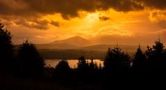 Orange skies (Phil-Gregory) Tags: orange sunset sunrise cloudscape cloud nikon d7200 tokina tokina1120mmatx 1120mmproatx11 wideangle ultrawide scotland highlands glenelg glenshiel mountains