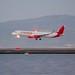 Avianca Airbus A-321 landing SFO, beacon on, panned DSC_0484 (1)