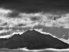 View From A Gas Station In West Valley, Utah 10-14-2018 (brandoninidaho1979) Tags: utah wasatch slc saltlakecity westvalley mountain clouds lighting blackwhite nature
