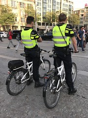 On Patrol - Politie Amsterdam - Dam Square - October 2018 (firehouse.ie) Tags: damsquare lawenforcement policia polizia polit polis polizei cops cop patrol cycle bicycles bicycle holland amsterdam politie police