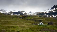 Snæfellsnes Landscape (brainstorm1984) Tags: schnee landscape landschaft himmel mountains berge berg clouds iceland kirkjasfoss waterfall eis wasserfall snow snæfellsnes island sky kirkjufell mountain grundarfjörður wolken ice