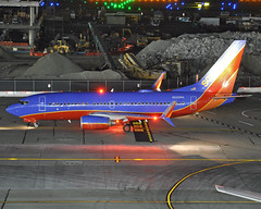 N232WN (Rich Snyder--Jetarazzi Photography) Tags: southwestairlines southwest swa wn boeing 737 737700 7377h4 b737 b73g n232wn arriving arrival sanfranciscointernationalairport sfo ksfo millbrae california ca airplane airliner aircraft jet plane jetliner ramptowera rcta atower dark night lights