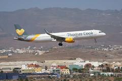 OY-TCF AIRBUS A321 of Thomas Cook Airlines arriving in Las Palmas, Gran Canaria. (PeteB72) Tags: a321 airbus thomascook oytcf gando laspalmasdegrancanaria laspalmas grancanaria airport sony70300g sonya77m2