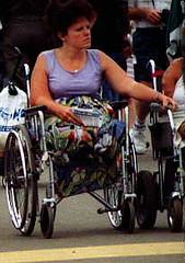 Legless at the Fair 04 (jackcast2015) Tags: disabledwoman disabled disabledlady wheelchair wheelchairwoman crippledwoman crippledlady amputee amputeewoman dak a nolegs