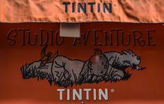 Tintin & Snowy, Rue des Bagniers, Aix-en-Provence (bobbex) Tags: france aixenprovence french provence herge tintin shopfront orange