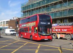 AB 2577 - YX17NPP - PECKHAM HIGH STREET - THUR 6TH SEPT 2018 (Bexleybus) Tags: peckham high street south east london tfl route 381 abellio adl dennis enviro mmc hybrid yx17npp 2577