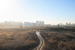 Landscape is under construction (man_from_siberia) Tags: kemerovo siberia skyline track road autumn fall october landscape light sunlight canon dslr canoneos1dsmarkii canonef40mmf28stm pancakelens russia россия сибирь кемерово