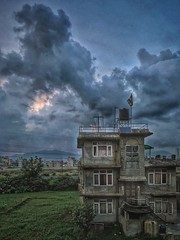 Eerie (livingsta) Tags: eerie haunted abandoned iphoneography iphone7plus shotoniphone shotwithiphone mobilephotography adventuremobile adventure spooky hdr snapseed concrete sunset clouds landscape nepal travel travelphotography traveler architecture architecturalphotography earthcapture building