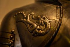 Dragon (Oddiseis) Tags: metal history segovia alcazar castle castilla spain medieval old colors golden dragon relief armor tamron247028 museum