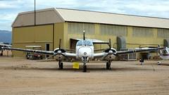 Beechcraft E50 L-23D / U-8D Seminole 56-3701 in Tucson (J.Comstedt) Tags: aircraft flight aviation air aeroplane museum airplane us usa planes pima space tucson az beech beehcraft e50 twin bonanza usaf 563701