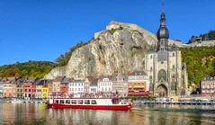 Dinant - 5950 (ΨᗩSᗰIᘉᗴ HᗴᘉS +23 000 000 thx) Tags: hdr dinant hensyasmine namur belgium europa aaa namuroise look photo friends be wow yasminehens interest intersting eu fr greatphotographers lanamuroise boat today water