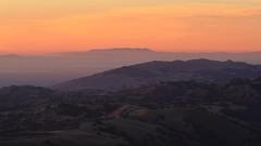 Mount Tamalpais and Mission Peak at Dusk (fksr) Tags: mounthamilton lickobservatory santaclaracounty california mounttamalpais marincounty missionpeak landscape hills silhouette dusk evening